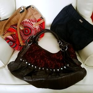 2 Miche purses Plus Brown purse with lace